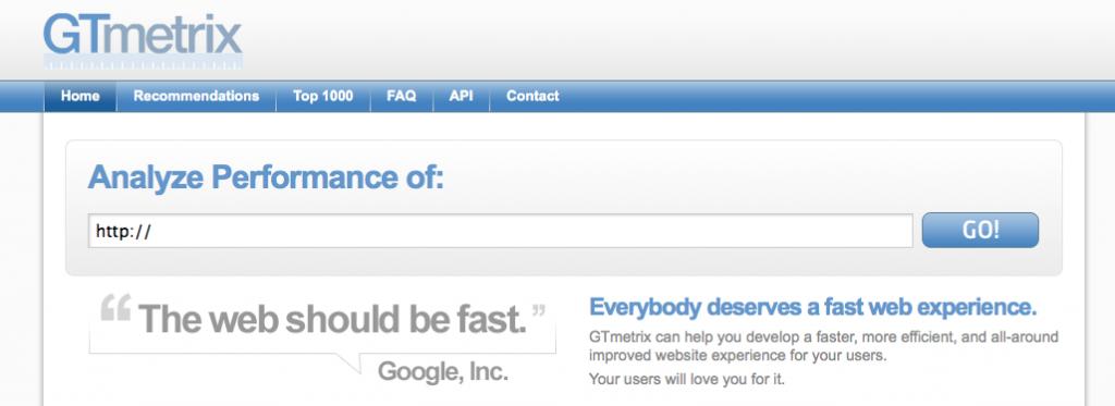 Testa hastigheten på hemsida